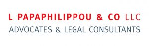 L PAPAPHILIPPOU LOGO ADVOCATES AND LEGAL CONSULTANTS CMYK logo